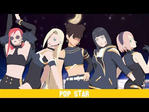 [ MMD Naruto ] K/DA - POP/STARS - Konoha Dance Group +DL