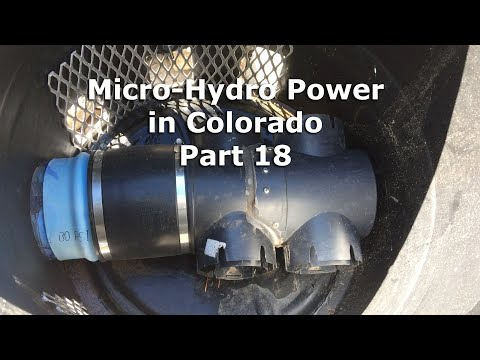 Micro Hydro Electric Power System in Colorado Part 18
