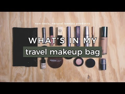 What's in My Travel Makeup Bag | Non-toxic, Natural & Cruelty-Free Beauty
