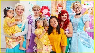 Disney Princess Birthday Party with Emma and Kate Turning 3!!!