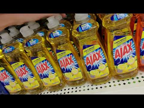 Request | Dollar Tree Cleaning Products Shelf Organization