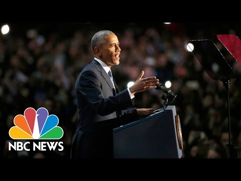 President Barack Obama's Farewell Address...