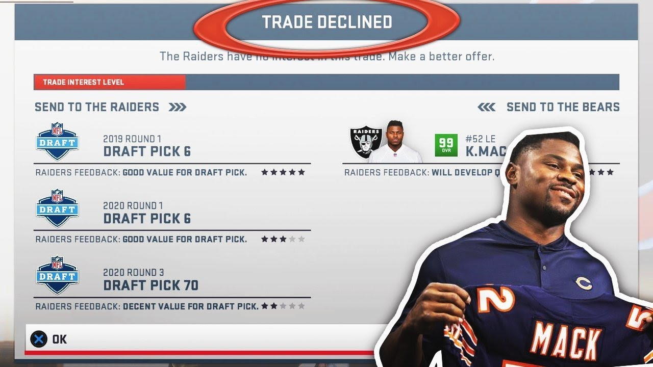 ATTEMPTING CRAZY REAL LIFE NFL TRADES IN MADDEN 19!