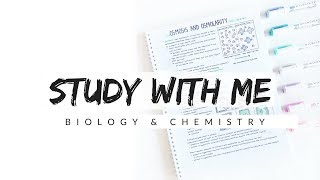 Study With Me - Biology and Chemistry | Study Motivation | studytee