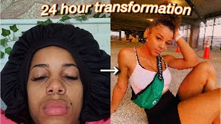 24 Hour Insta Baddie Transformation | Azlia Williams