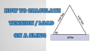 How to calculate Tension/ Load/ Tenṡile Strength of a Sling