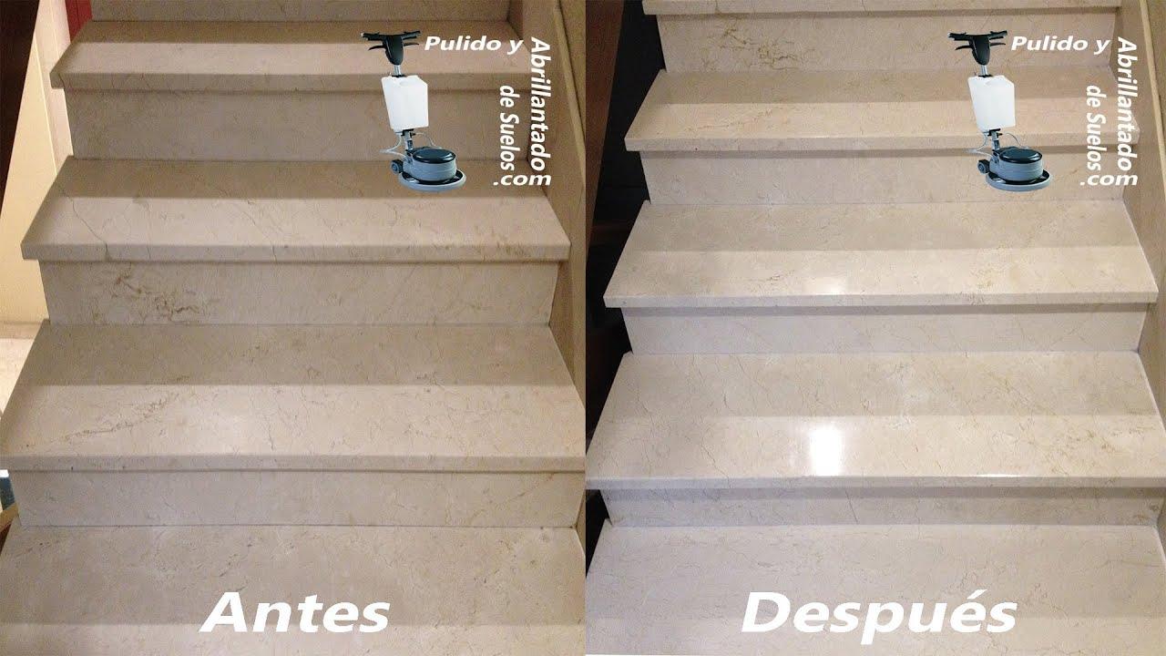 Abrillantado de escaleras de m rmol youtube for Escaleras de marmol y granito