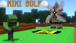 Monster School Mini Golf Minecraft Animation