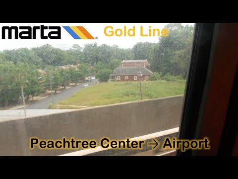 MARTA Gold Line - Peachtree Center → Airport (5/21/2017)