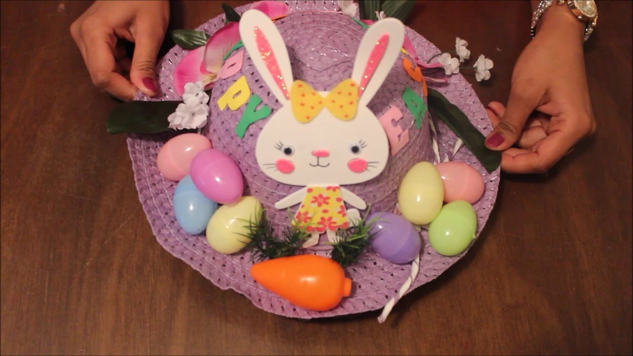 Diy Easter Hat Decoration 1 Easter Bonnet Tutorial 1 Youtube