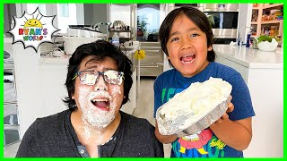 Ryan surprise Daddy with DIY Homemade Whipped Cream!!!
