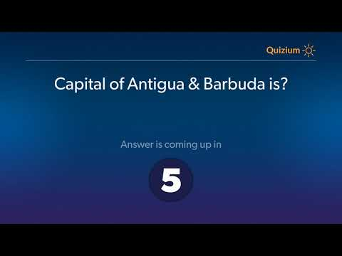 Capital of Antigua & Barbuda is?   Countries and Capitals Quiz