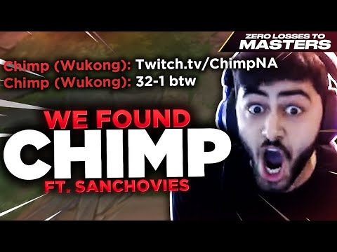Yassuo | WE FOUND CHIMP! (ZERO LOSSES TO MASTERS CHALLENGE) Ft. Sanchovies [Episode 4]