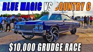 BLUE MAGIC VS COUNTRY C $10,000 GRUDGE RACE - YOUNG JEEZY CAR SHOW DONK RACING