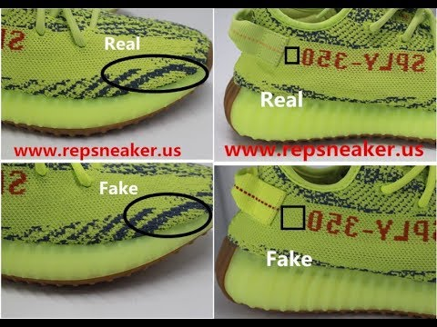Yeezy Boost 350 V2 Semi Frozen yellow Real VS fake Review