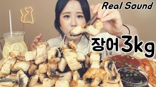 [Sub]/Real Sound/ 3 kg of grilled eel Mukbang eating show