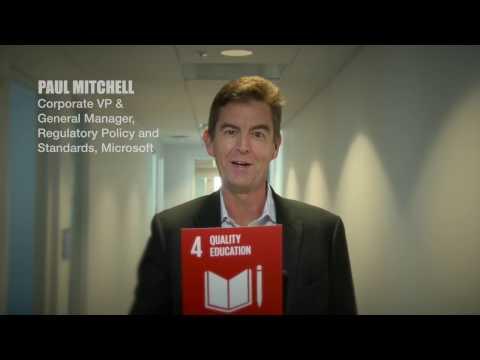SDG4 QUALITY EDUCATION – Paul Mitchell, Microsoft