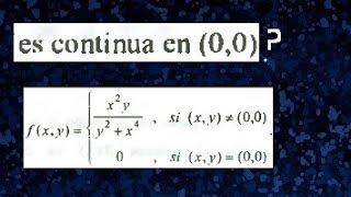 Continuidad de una Función real de variable vectorial