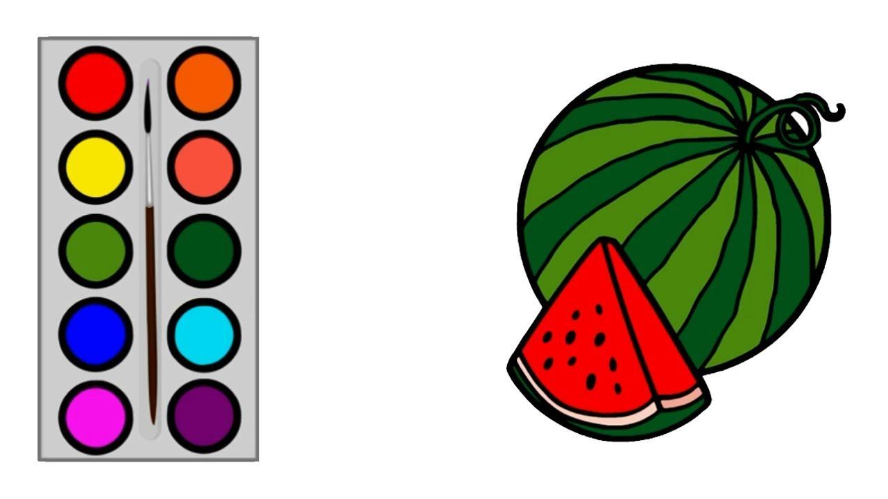 Cara Menggambar Buah Semangka