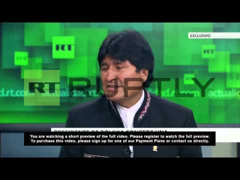 """Russia: Bolivia there for """"personalities who denounce"""" - Morales"""