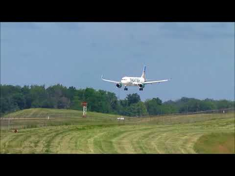 CVG Plane Spotting - 5-23-2018 - Boeing 747, Frontier go-around, MD-88 & More!