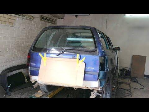 видео: Opel Astra F. Накидка крыши. Поступление новых запчастей.