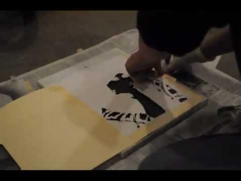 Composite Image Of Stencil Graffiti >> Multi Layer Graffiti Stencil Megan Nicole Youtube
