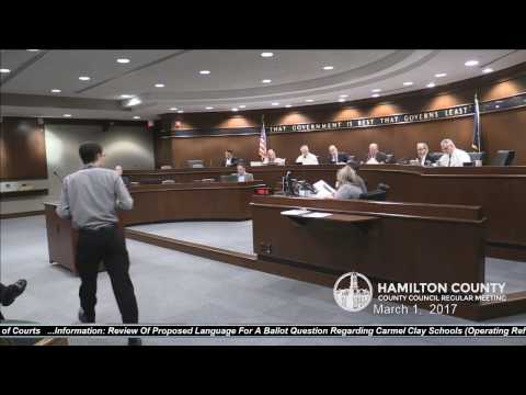 Hamilton County Council Meeting March 1, 2017