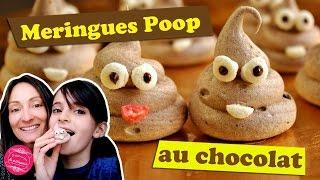 Recette originale de MERINGUES au CHOCOLAT POOP ou EMOJI CACA !