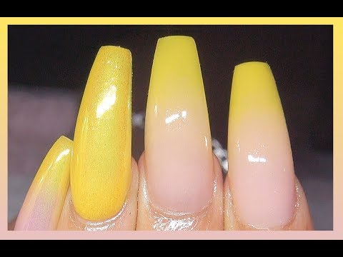 How To Lemon Drop Baby Boomer Acrylic Nails + Real Time Speed & Talkthrough