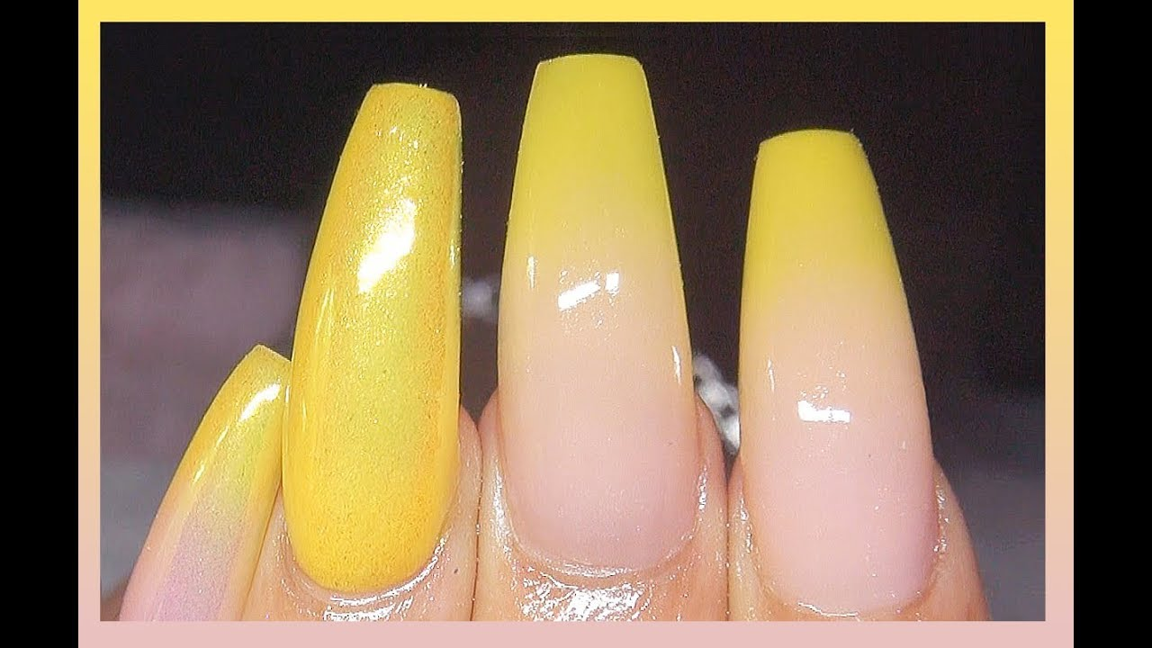 How To Lemon Drop Baby Boomer Acrylic Nails Real Time Speed Talkthrough