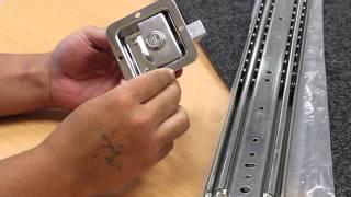 Drawer slide kit heavy duty