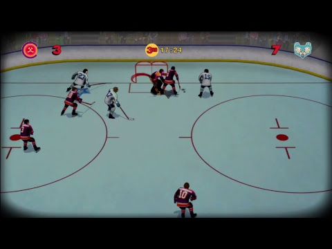 Old time hockey gameplay