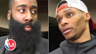 Harden and Westbrook talk down the Rockets' loss to the Lakers | NBA Sound