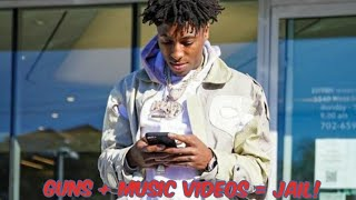 NBA YoungBoy Chased By Cops & Arrested in LA For Showing Guns in Music Video 🤔