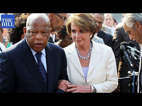 Pelosi gets EMOTIONAL remembering John Lewis