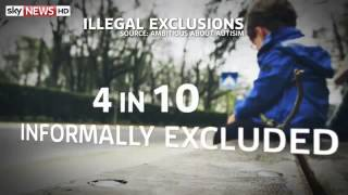 autism four in 10 children illegally excluded