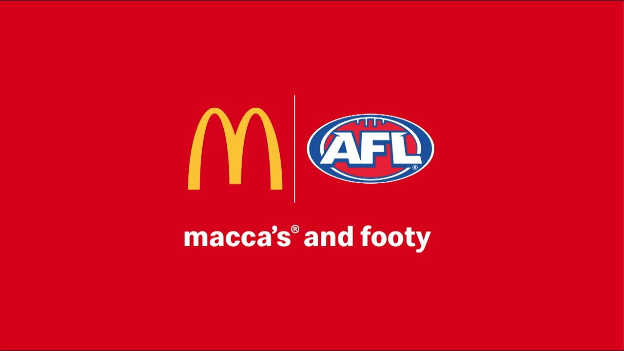 Macca's & the AFL - connected by footy