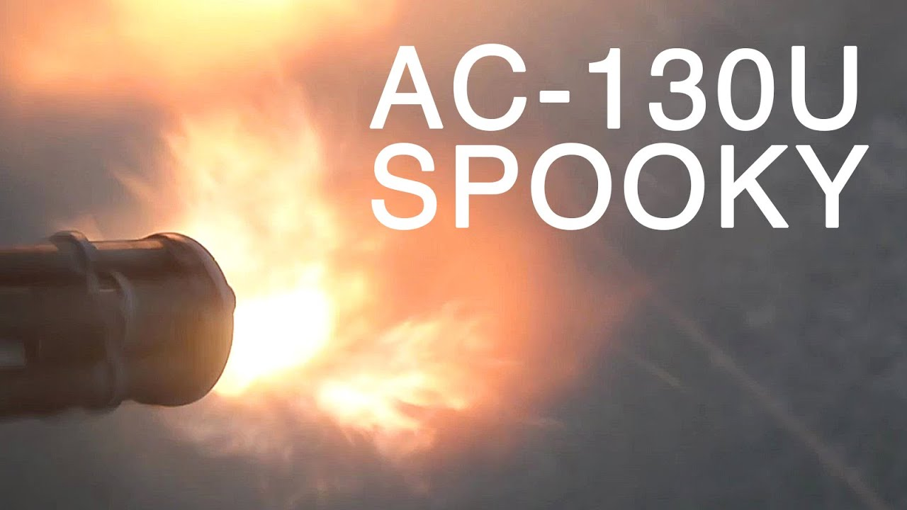 Air Force AC-130U Gunship Close Air Support Live-Fire Training