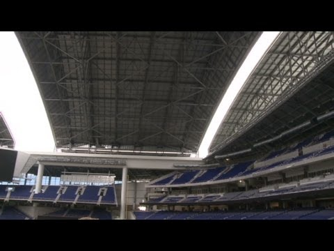 Baseballu0027s Huge New Rolling Roof In Miami   YouTube