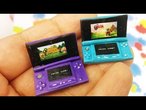 DIY MINI NINTENDO 3DS Polymer Clay Tutorial- How To Make 3ds For Dolls
