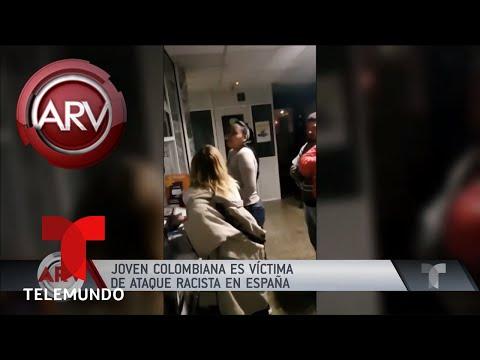 Indignante ataque racista a una colombiana en España | Al Rojo Vivo | Telemundo