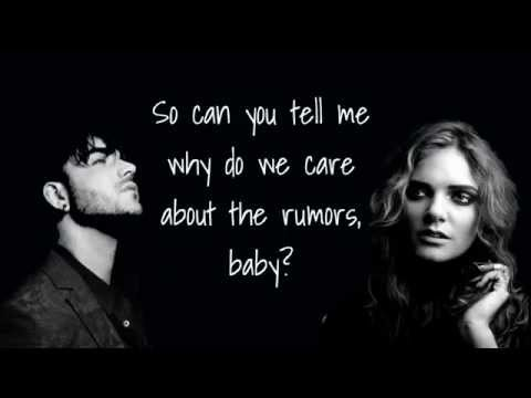 Adam Lambert Rumors Lyrics (feat. Tove Lo)
