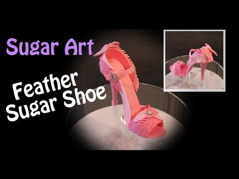 cake-decorating-2017---feather-high-heel-sugar-shoe-cake-topper-with-angel-wings