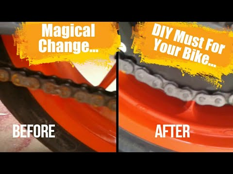 Chain Clean AND Lube of MY KTM Duke 200 DIY