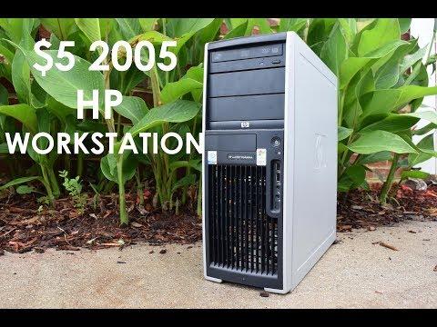 Garage Sale Finds: $5 HP xw4300 Workstation Computer Overview (2005)