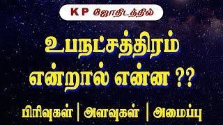 உபநட்சத்திரம் என்றால் என்ன?   Sublord in KP Astrology   KP Astrology basics   KP Astrology in Tamil