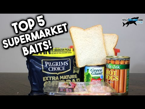 TOP 5 SUPERMARKET FISHING BAITS!!