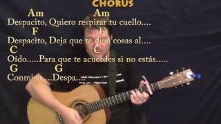 Despacito (Luis Fonsi/Justin Bieber) Strum Guitar Cover Lesson with Chords/Lyrics - Capo 2nd