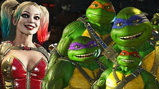 Injustice 2 - Ninja Turtles vs Harley Quinn All Intro Dialogue